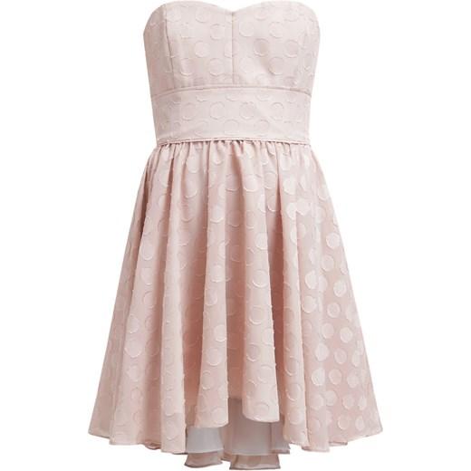 8b31c0569 Swing Sukienka koktajlowa beige zalando szary abstrakcyjne wzory w ...