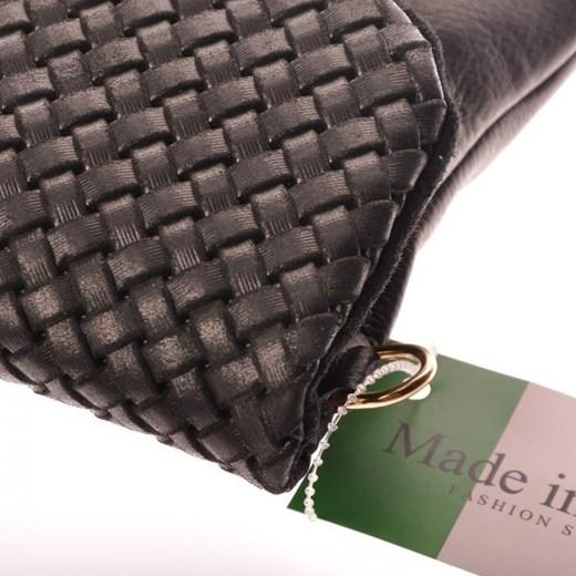 d600c25b31840 ... MADE IN ITALY Frizoine 7 czarna włoska torebka skórzana kopertówka  skorzana-com szary skóra ...
