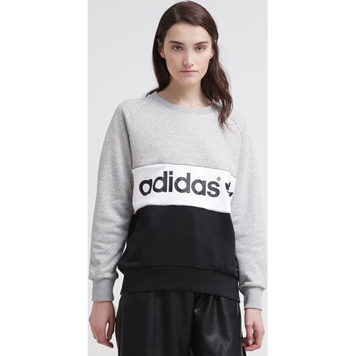 adidas Originals CITY Bluza medium grey heatherblack zalando czarny abstrakcyjne wzory