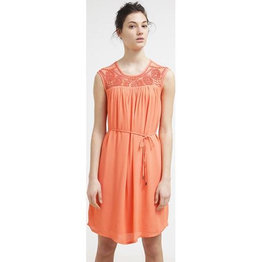 68c1ccb3f47822 Vila VIBLENNA Sukienka letnia hot coral zalando pomaranczowy abstrakcyjne  wzory w Domodi