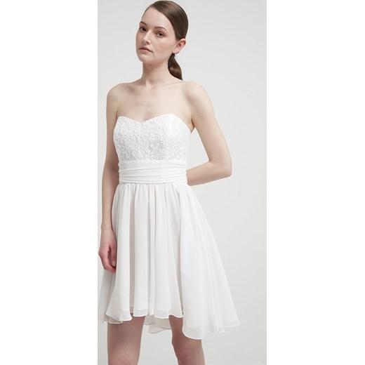 306435977 Swing Sukienka koktajlowa white zalando bialy abstrakcyjne wzory w ...