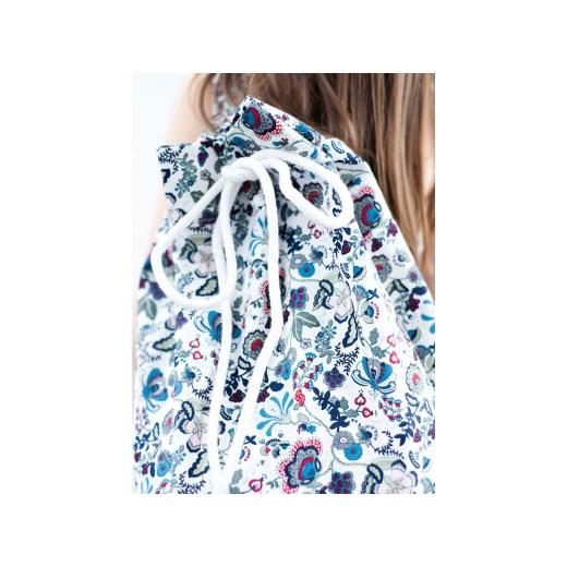 89c85abd17bd2 Plecak / Worek w Kwiaty e-kaan-pl niebieski kwiatowy w Domodi