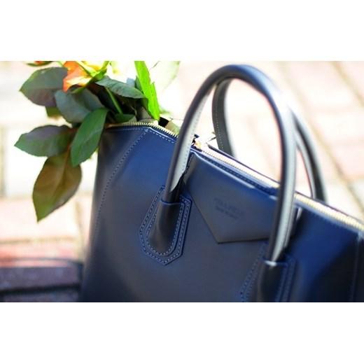 2531df5a518bb ... rozowy  MADE IN ITALY Tronco 052 brązowa włoska torebka skórzana  kuferek skorzana-com niebieski ...