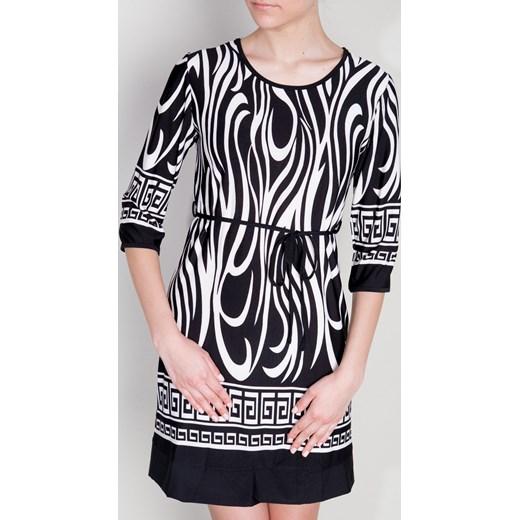 458df8eb7e Czarna sukienka w oryginalne wzory depare-pl abstrakcyjne w Domodi