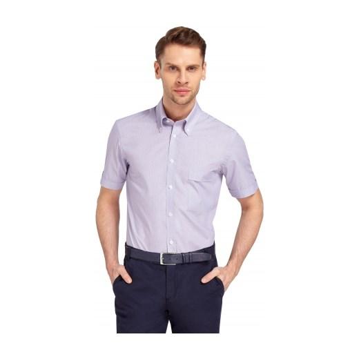 5220014a2c3f2 Fioletowa koszula męska Wólczanka wolczanka fioletowy w Domodi