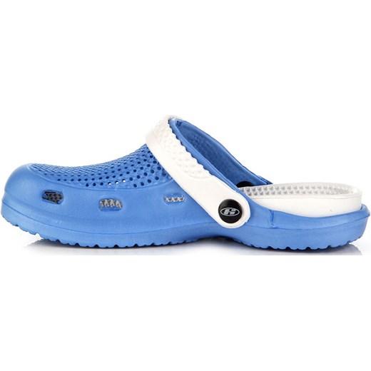 81bfc4bf9243d4 ... HASBY K782B niebieskie klapki basenowe plażowe butyraj-pl niebieski  paski ...