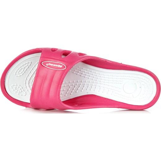 107729a1572260 HASBY K728 różowo-białe klapki damskie basenowe plażowe butyraj-pl rozowy  basen w Domodi