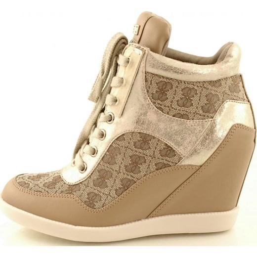 Masywnie Sneakersy Guess FL2HDAFAL12 Beibr 2051-053 zebra-buty-pl szary na FG07