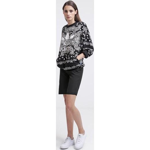 adidas Originals Bluza blackwhite zalando czarny abstrakcyjne wzory