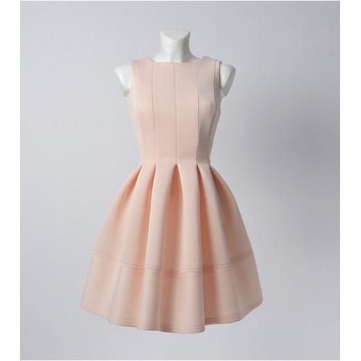 Rozkloszowana Sukienka W Zakładki Mosquito Pl Rozowy Sukienki Na