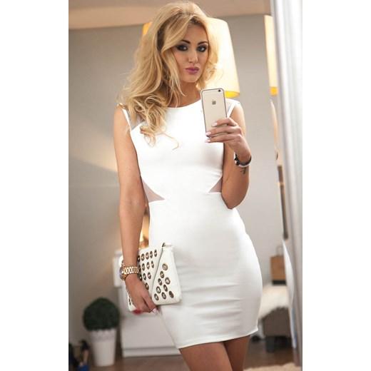 Bezowy Sukienka W Com Fasardi Domodi Yf76ygvb