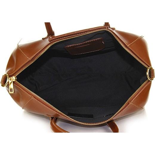 8012afdd06715 ... MADE IN ITALY Tronco 052 brązowa włoska torebka skórzana kuferek  skorzana-com czarny ...
