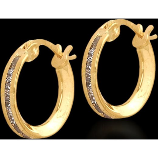 55ef2669783c66 kolczyki złote kółka z cyrkoniami jubiler-pl czarny cyrkonia w Domodi