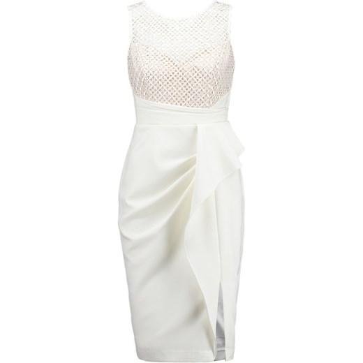 b16e0a4a6e Lipsy Sukienka koktajlowa nude zalando szary abstrakcyjne wzory w Domodi