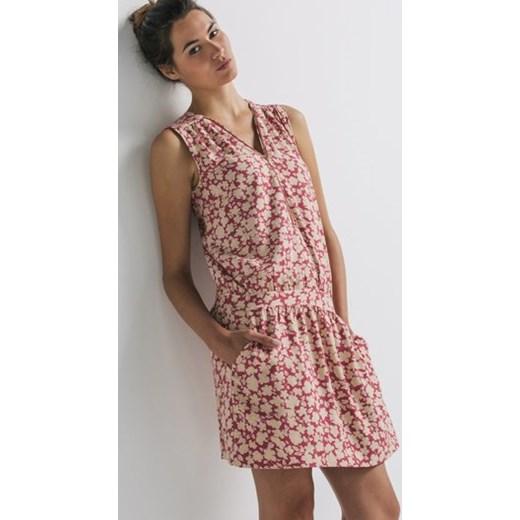 e714cf34a16b40 Sukienka we wzory promod-pl rozowy minimalistyczny w Domodi