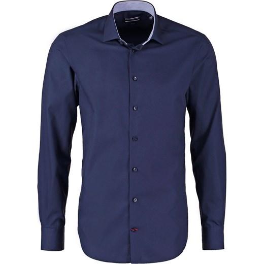 fe58b48236b55 Tommy Hilfiger Tailored SLIM FIT Koszula biznesowa blue zalando granatowy  abstrakcyjne wzory ...