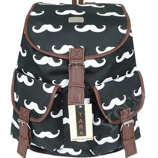 400f46db9cbbc ... Polski Plecak Vintage TARA Plecaki Mustache Wąsy yoco-pl szary vintage  ...