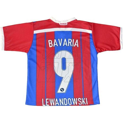 acf873fca Komplet piłkarski REDA Bayern Monachium Lewandowski Junior  czerwono-niebieski hurtowniasportowa_net czerwony