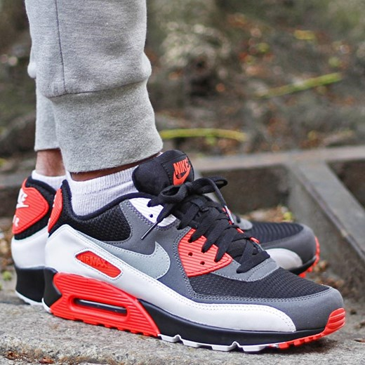 wholesale dealer 88446 3ff02 ... Infrared Trainers - Black   Neutral Grey  nike air max 90 reverse ...