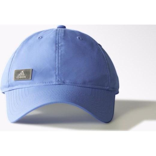 100% najwyższej jakości online tutaj 100% jakości Czapka z daszkiem adidas Performance Metal Logo S20446  hurtowniasportowa-net niebieski