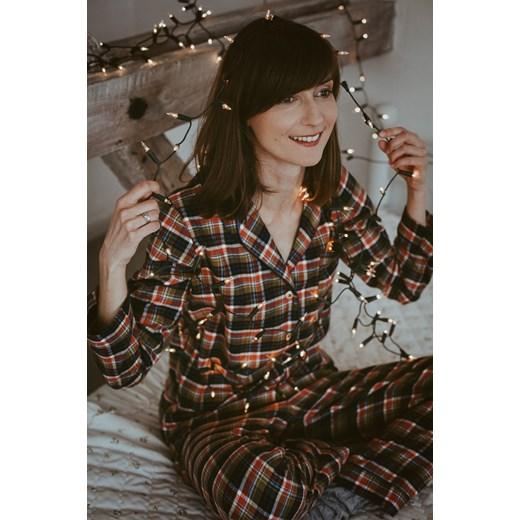 797ad6b7f64da3 Piżama damska flanelowa w kratkę showroom-pl szary koszule w Domodi