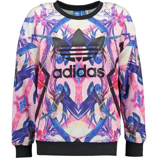 adidas Originals Bluza multicolor zalando fioletowy Bluzy z nadrukiem damskie