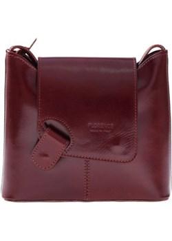 Uniwersalna Listonoszka skórzana Florence Collection brązowa torbs-pl czerwony  - kod rabatowy