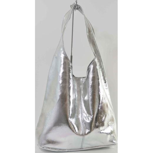 5676f879b3283 Skórzana srebrny torebka worek cervandone-pl bialy łatki w Domodi