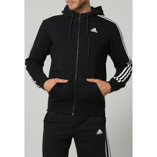różne kolory szybka dostawa rozmiar 40 adidas Performance ESSENTIALS Bluza rozpinana black/white zalando czarny  Bluzy męskie rozpinane