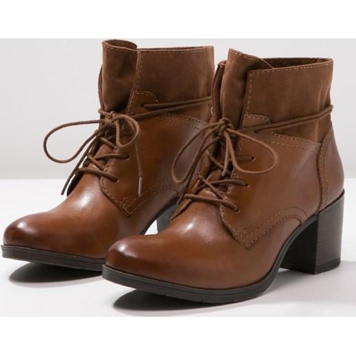 983f165d409b4e Pier One Ankle boot cognac zalando brazowy abstrakcyjne wzory w Domodi