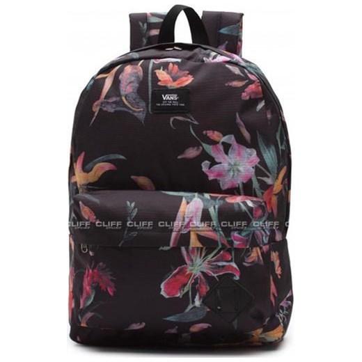 plecak vans w kwiaty czarny
