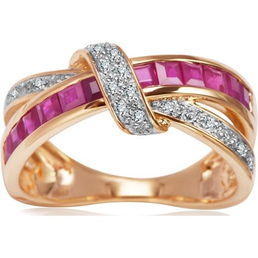94cfde33acaa20 Pierścionek z rubinami i diamentami yes rubin w Domodi