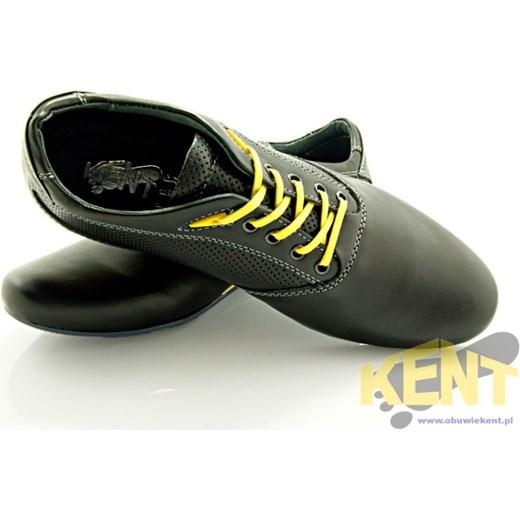 Kent 511f czarno te sk rzane buty m skie smart casual sklep obuwniczy kent szary oryginalne House sklep buty meskie