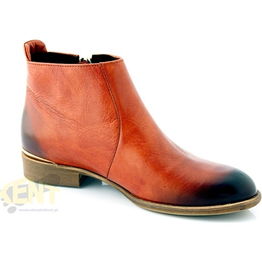 a83963935067 ... LEMAR 119 BRĄZ KONIAK - Skórzane buty damskie