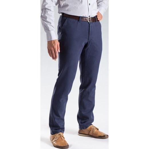 f0ec92a0020fc Granatowe chinosy slim meskie-spodnie granatowy bawełna w Domodi