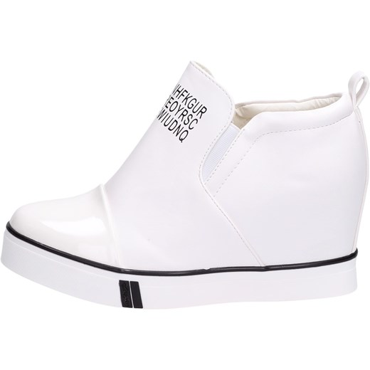 Modne ubrania 37% Białe botki na koturnie sneakersy 252 suzana-pl bialy Buty XD96