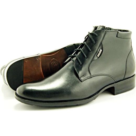 fa33c13a5aabd ... 2371 CZARNE - Wysokie, eleganckie, skórzane buty męskie  sklep-obuwniczy-kent brazowy ...