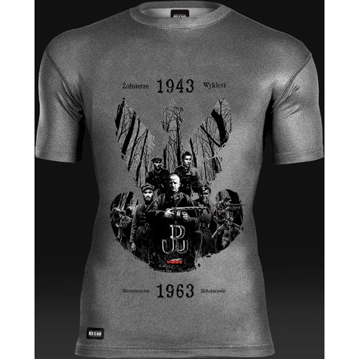 b8ba45542 Koszulka termoaktywna Żołnierze Wyklęci: Nieśmiertelni Bohaterowie red-is- bad  szary abstrakcja .