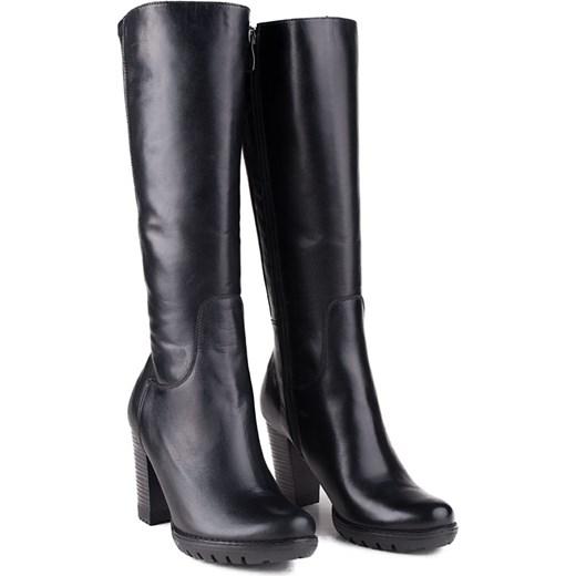 0113bc7e02f75 ... 036K-001 Marco Shoes kozaki skórzane czarne milandi-pl czarny skóra