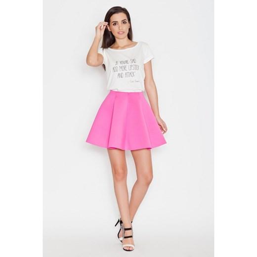 gorąca wyprzedaż w 2019 roku Fuksja Efektowna Kloszowana Spódnica Mini molly-pl rozowy Odzież Damska MM różowy Spódnice UYTP