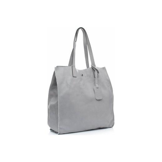5fbcf69144b72 Vera pelle Torby shopper Torba Skórzana Shopper Bag z Kosmetyczką Szara  (kolory) Vera pelle