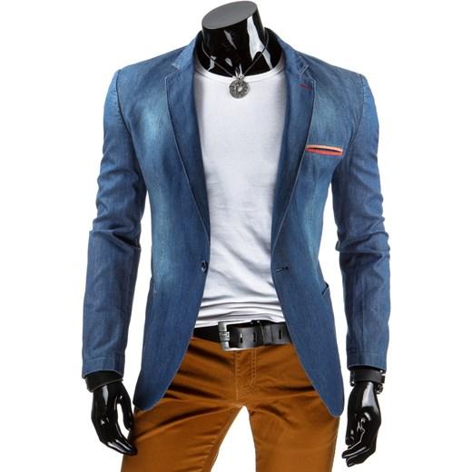 6c9798e63cec0 Męska marynarka jeansowa (mx0181) dstreet niebieski bawełna w Domodi