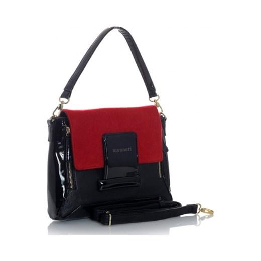 0c74ea9659c20 ... MONNARI Lakierowana torebka damska czarny z czerwonym koniem jestes- modna czerwony na ramię ...