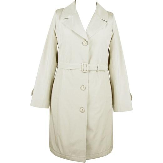 21f88ccc2d8f1 Elegancki kremowy płaszcz z kołnierzem modne-duze-rozmiary bezowy długie
