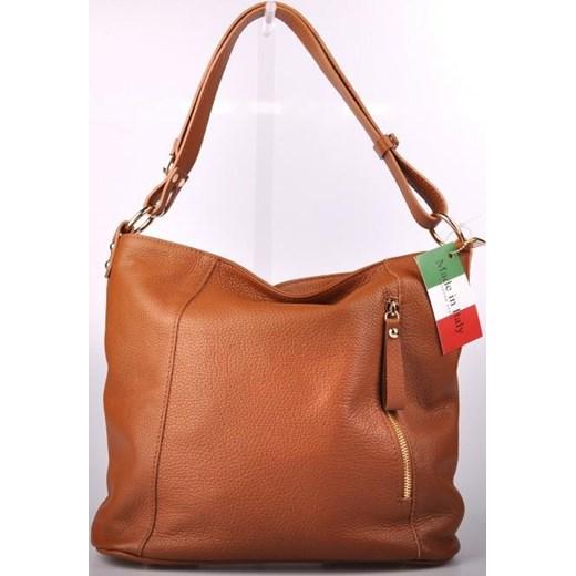 9c6b82281ce73 MADE IN ITALY Spalla 189 ruda włoska torebka skórzana worek skorzana-com  brazowy casual