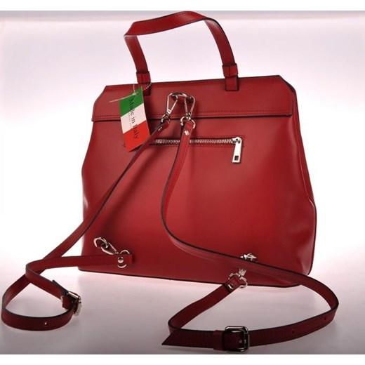 12f32ace210af ... MADE IN ITALY Zaino 007 włoski plecak skórzany czerwony skorzana-com  czerwony skóra ...
