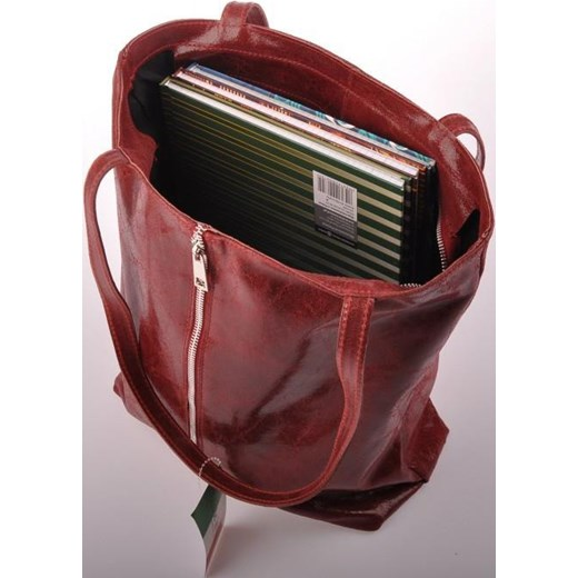 fefa6e67609d5 ... czerwony skóra  MADE IN ITALY Spalla 176 bordowa włoska torebka  skórzana worek skorzana-com czerwony wakacyjny