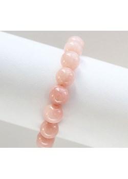 Bransoletka z jadeitów różowa finery bezowy kamienie - kod rabatowy
