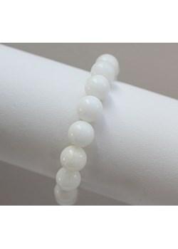 Bransoletka z jadeitów biała finery szary kamienie - kod rabatowy