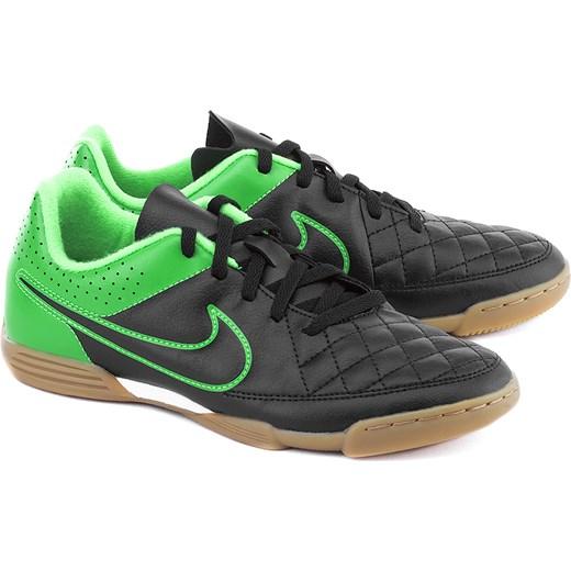 912db6da7 NIKE Junior Tiempo Rio II - Czarne Ekoskórzane Sportowe Dziecięce - 631526  003 mivo zielony Buty